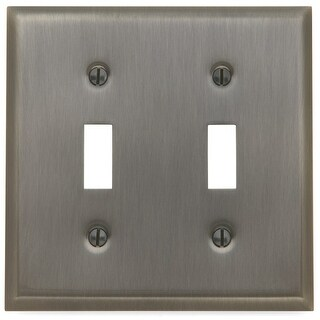 Baldwin 4761.CD Beveled Edge Solid Brass Double Toggle Switchplate (More options available)