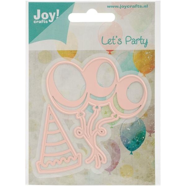 "Joy! Crafts Cut & Emboss Die -Balloons & Hat, 1.25""X2"", & 2.75""X3.125"""