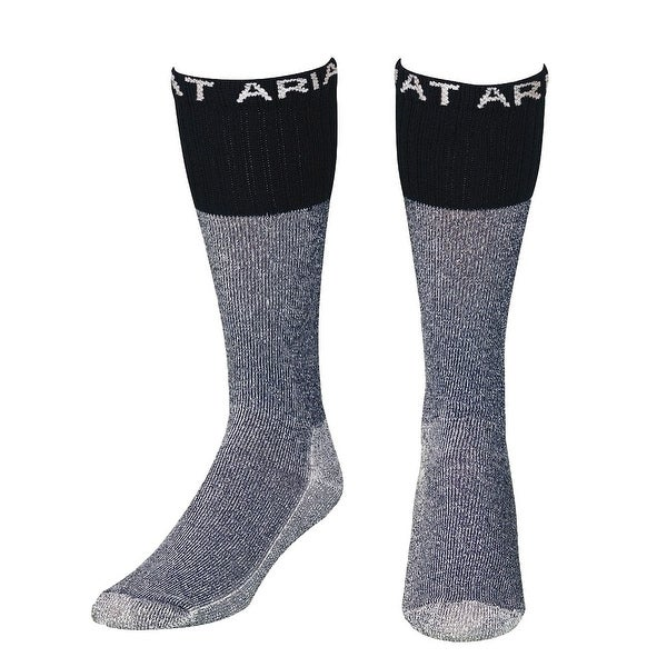 Ariat Socks Men Boot Over the Calf Cushion Reinforced Navy - XL