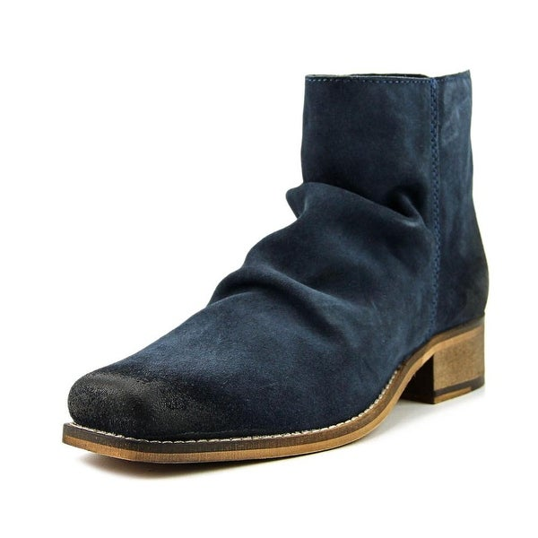 Seychelles Fondness Women Square Toe Suede Blue Ankle Boot
