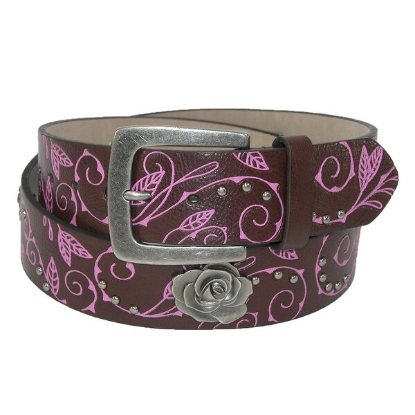 Rogers-Whitley Women's Vine Pattern Belt with Rose Choncos