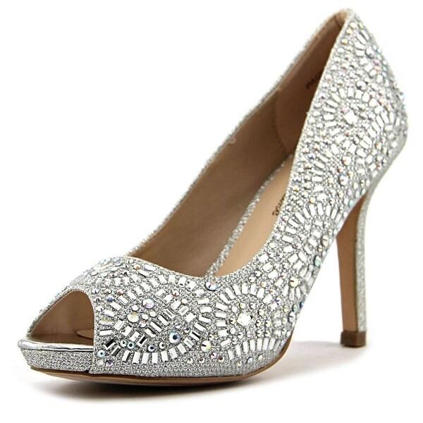 Lauren Lorraine Paula-2 Women Peep-Toe Synthetic Silver Heels