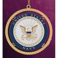 "ChemArt 2.5"" Collectible Keepsakes United States Navy Christmas Ornament - GOLD"