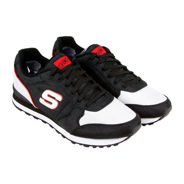 ea66aded3c068 Shop Skechers Og 85 - Vannett Mens Black Textile Athletic Lace Up ...