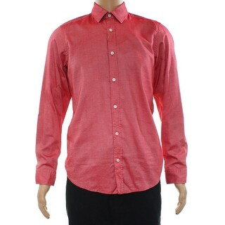 Hugo Boss NEW Red Mens Size XL Button Down Oxford Comfort Fit Shirt