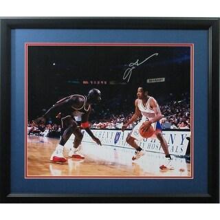 Allen Iverson Autographed 76ers Signed Framed 16x20 Basketball Photo Michael Jordan JSA COA 2 Photo
