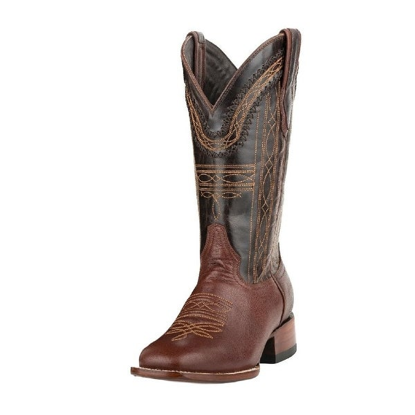Stetson Western Boots Mens Denver Leather Brown