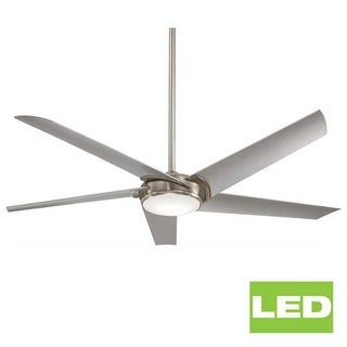 "MinkaAire Raptor 60"" 5 Blade Indoor Ceiling Fan with Integrated LED Light and Remote"