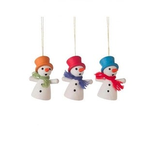 Alexander Taron Dregeno Ornament - Assorted Snowmen, Set of 3