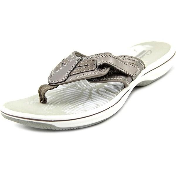 Clarks Narrative Brinkley Jazz Women Open Toe Synthetic Tan Flip Flop Sandal
