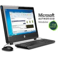 """Refurbished HP 100B AIO, AMD(E350) - 1.6GHz, 4GB, 500GB, DVD, W10 Home WiFi, 20"""" Screen"""