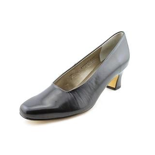 Mark Lemp By Walking Cradles Vicki Women Square Toe Leather Blue Heels