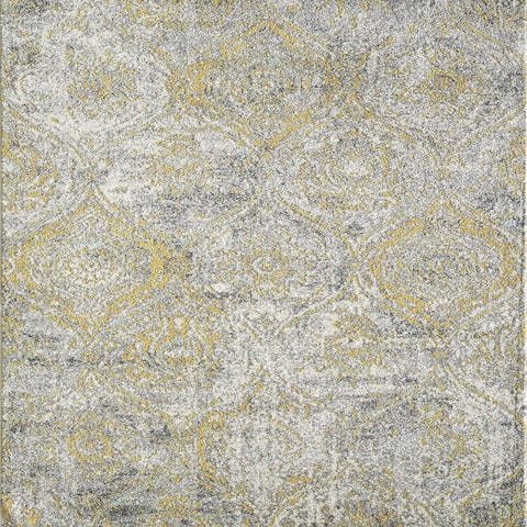 Totti Loops Cream/Yellow 6x9 Oriental Rug - 6'X9' Rectangle - 6'X9' Rectangle