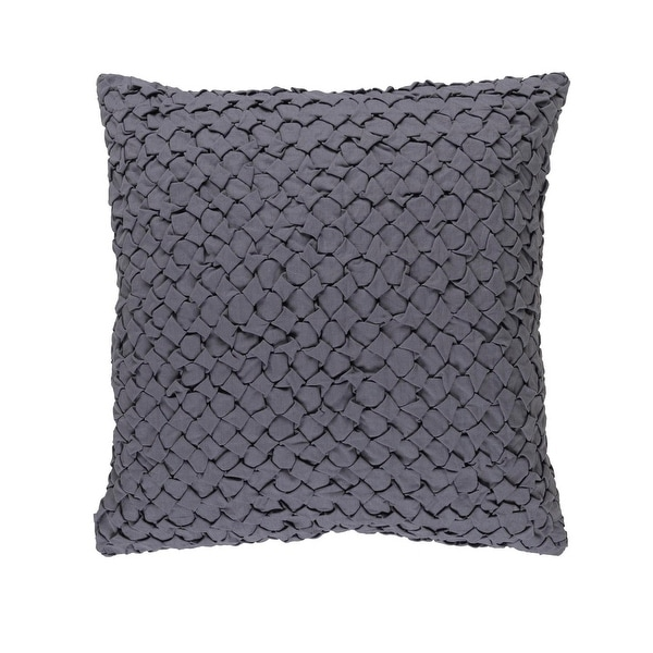 "18"" Dove Gray Angled Weave Decorative Square Throw Pillow"