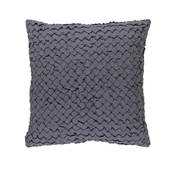 """22"""" Dove Gray Angled Weave Decorative Square Throw Pillow"""