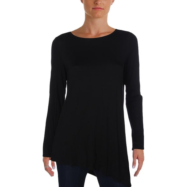 40d9e8b6ac Shop Eileen Fisher Womens Blouse Jersey Asymmetrical - Free Shipping ...