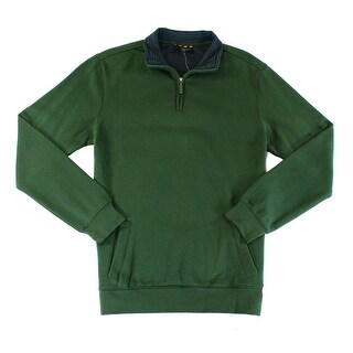 Club Room NEW Duffel Green Mens Size 2XL Fleece 1/2 Zip Sweater
