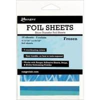 """Frozen 4.69""""X3.56"""" - Inkssentials Foil Sheets 4.69""""X3.56"""" 10/Pkg"""