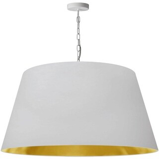 Link to 1LT Brynn X-Large Pendant, Wht/Gld Shade, White Similar Items in Pendant Lights