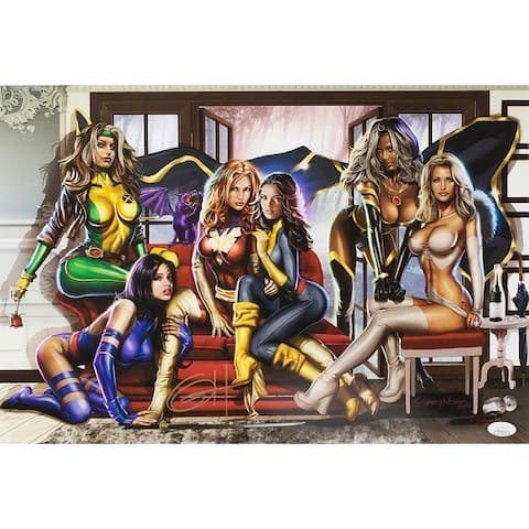 Women of X-Men 19x13 Limited Edition Lithograph Signed By Greg Horn JSA