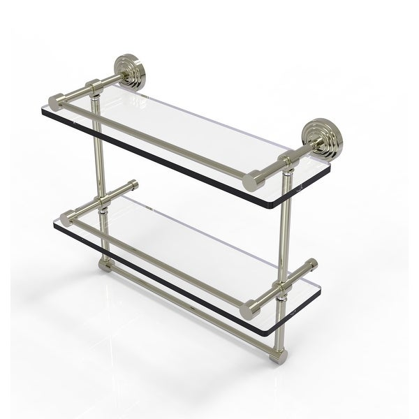 Allied Brass Gallery Double Glass Shelf with Towel Bar