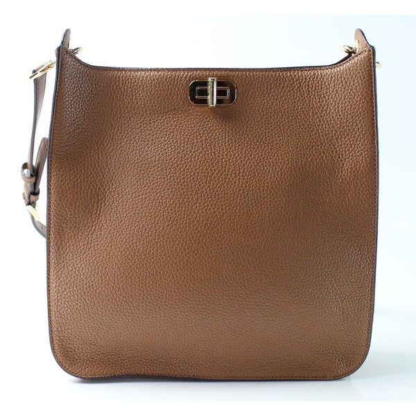 fc4bef10add5 Shop Michael Kors NEW Brown Pebbled Leather Large Sullivan Messenger ...