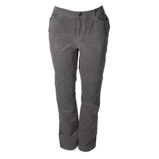 Charter Club Grey Tummy-Control Corduroy Pants 8S