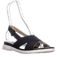 naturalizer Eliza Flat Ankle Strap Sandals, Black - 9.5 w us