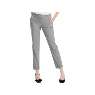 Max Studio London Womens Dress Pants Houndstooth Straight Leg