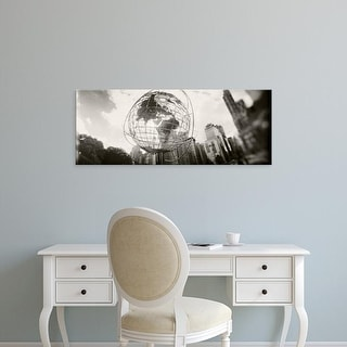 Easy Art Prints Panoramic Image 'Steel globe, Columbus Circle, Manhattan, New York City, New York State' Canvas Art