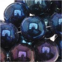 Czech Glass Druk Round Beads 8mm Blue Iris (25)