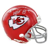 Len Dawson signed Kansas City Chiefs Replica Mini Helmet HOF 87 Steiner Hologram