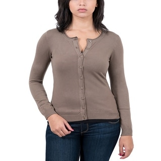 Real Cashmere Brown Cardigan Womens Sweater