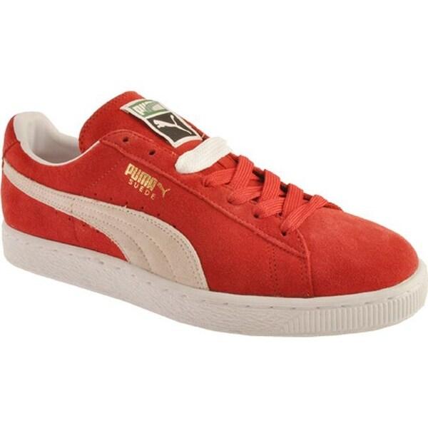 9394d201f9f7 Shop PUMA Men s Suede Classic Eco High Risk Red White - Free ...
