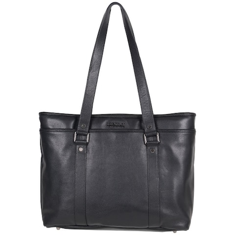 Kenneth Cole Reaction Downtown Darling Full-Grain Pebbled Leather 16-inch Laptop & Tablet Business Tote Bag - Black or Red