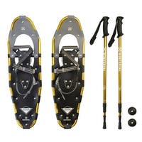 Winterial Highland Snowshoes / Recreational Snowshoeing / Adult Rolling Terrain Snowshoes / POLES INCLUDED!