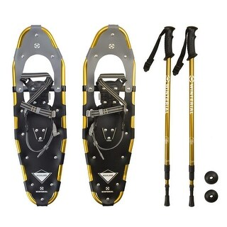 Winterial Snowshoes, Recreational Snowshoeing, Adult Rolling Terrain Snowshoes, Including poles