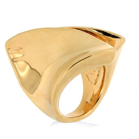 Forever Last 18 kt Gold Plated Women's Polished By Pass Ring