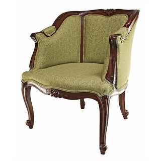 Design Toscano Kingsbury English Tub Chair: Sage Upholstery