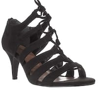 SC35 Hannde Lace Up Strappy Sandals, Black - 6.5 us