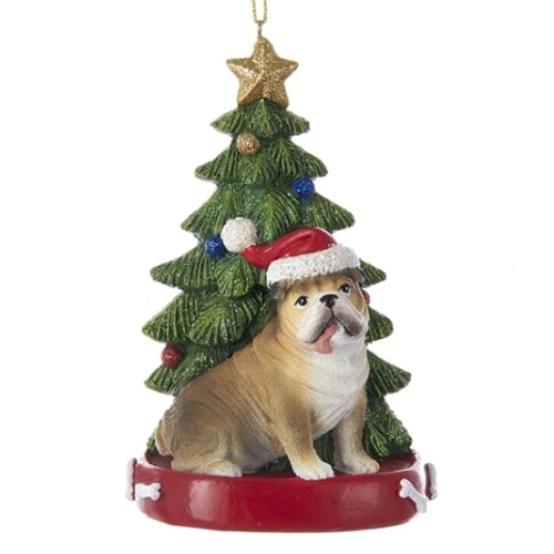 Bulldog with Tree