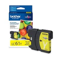 Brother LC61Y Brother Yellow Ink Cartridge - Yellow - Inkjet - 325 Page - 1 Each