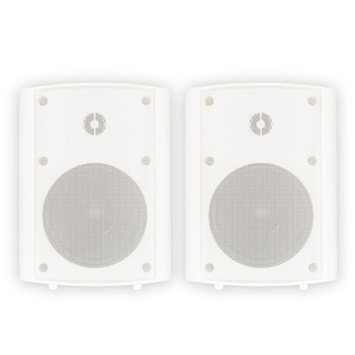 Theater Solutions TS5ODW Indoor or Outdoor Speakers Weatherproof Mountable White Pair