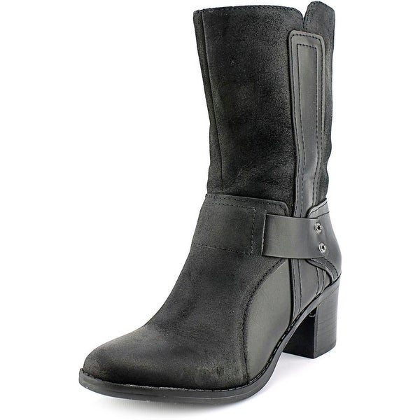 Bar III Wade Round Toe Leather Mid Calf Boot