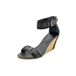 Marc Fisher Camron Open Toe Leather Wedge Sandal