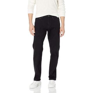 Goodthreads Men's Straight-Fit Selvedge Jean, Black, 42W x 29L - 42W x 29L