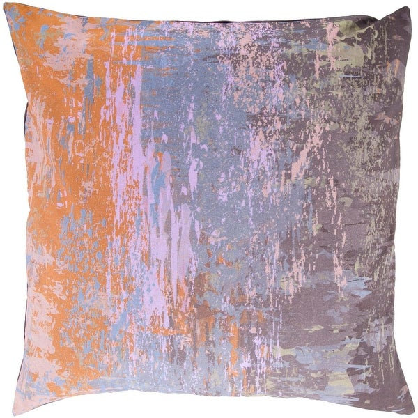 """18"""" Vibrantly Colored Woven Abstract Pattern Decorative Square Throw Pillow - Down Filler"""