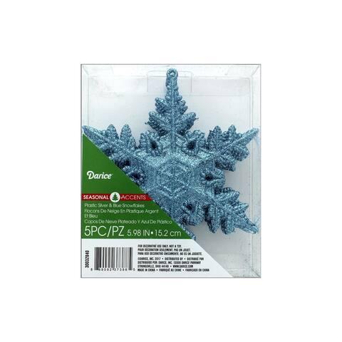 Darice Ornament Snowflake 5pc