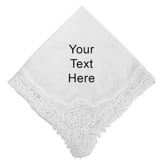 Cherish the Moment Custom Printed Handkerchief with Lace