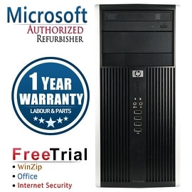 Refurbished HP Compaq 6200 Pro Tower Intel Core I3 2100 3.1G 8G DDR3 1TB DVD WIN 10 Pro 64 1 Year Warranty